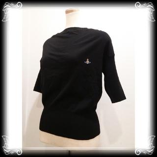 Vivienne Westwood - 新品 イタリア製 ヴィヴィアン 半袖ニット 黒 ¥72,360 vivienne