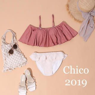 who's who Chico - 新品タグつき🌼水着上下+クリアポーチ🌼3点セット