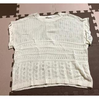 レトロガール(RETRO GIRL)の透かし編み 鍵編み ニット ベスト(カットソー(半袖/袖なし))