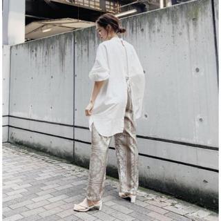 Ungrid - 限定セールタグ付き新品Ungrid  ハイネックバックオープンドレスシャツ