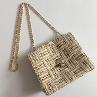 TODAYFUL - ゴールドチェーンメッシュ編みショルダーバッグ自然素材チェーンバッグ肩掛けバッグ