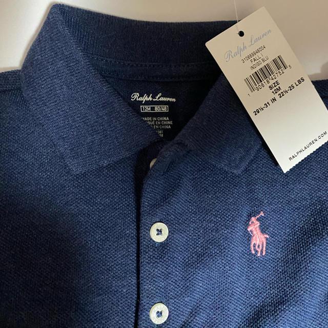 Ralph Lauren(ラルフローレン)のラルフ・ローレン ワンピース 半袖 12M INDIGO BLU キッズ/ベビー/マタニティのベビー服(~85cm)(ワンピース)の商品写真