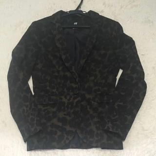 エイチアンドエム(H&M)の美品 H&M ジャケット レオパード(テーラードジャケット)