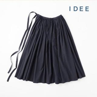イデー(IDEE)のIDEE  POOL  いろいろの服 巻きギャザーエプロン  ネイビー (ロングスカート)