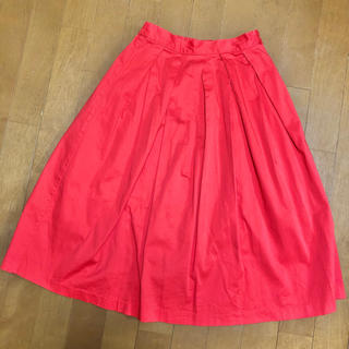 GU - GU オレンジ綿フレアスカート