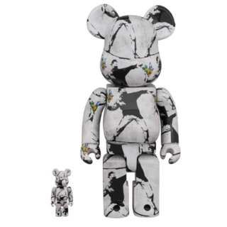 MEDICOM TOY - 100 400% BE@RBRICK FLOWER BOMBER  3個
