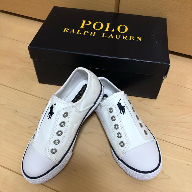 POLO RALPH LAUREN(ポロラルフローレン)のラルフローレンキャンバス地スニーカー(17cm)  キッズ/ベビー/マタニティのキッズ靴/シューズ(15cm~)(スニーカー)の商品写真