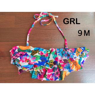 グレイル(GRL)のGRL グレイル★水着 ビキニ 上 チューブトップ 花柄 9M 9号(水着)