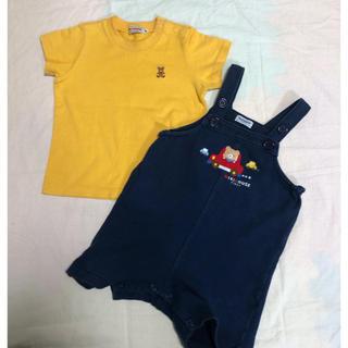 mikihouse - ミキハウス ダルマオール ショートオール オーバーオール 80    Tシャツ