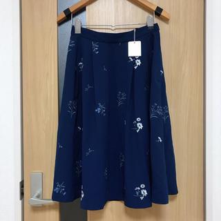 STRAWBERRY-FIELDS - 新品未使用タグ付き ストロベリーフィールズ フラワー刺繍フレアスカート