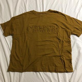 アウトドアプロダクツ(OUTDOOR PRODUCTS)のTシャツ イエロー ロゴ(Tシャツ/カットソー(半袖/袖なし))