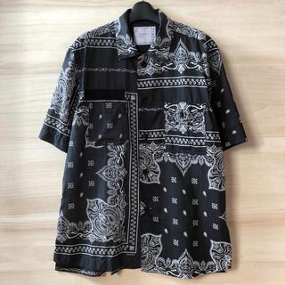 sacai - 19ss sacai バンダナシャツ アシンメトリー ブラック