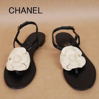 CHANEL - CHANEL シャネル 35C カメリア イタリア製 サンダル