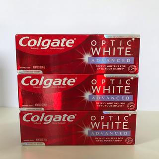 クレスト(Crest)のColgate Optic white advanced 3本セット(歯磨き粉)