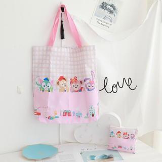 ダッフィー(ダッフィー)の日本未発売 ダッフィーフレンズ エコバッグ お買い物袋 かくれんぼ柄 数量限定(エコバッグ)