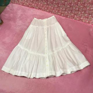 PINK HOUSE - ピンクハウス 白 ホワイト ロング スカート