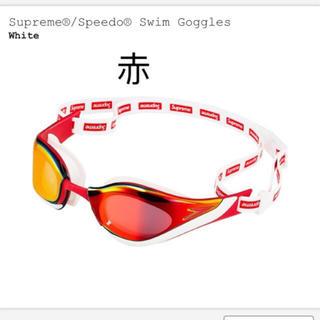 シュプリーム(Supreme)の赤 speedo swim Goggles  (マリン/スイミング)