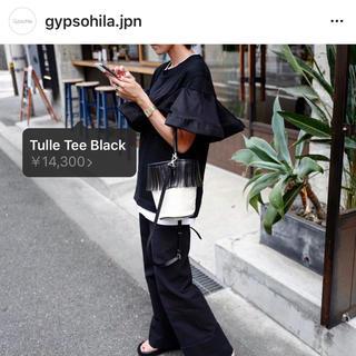 Drawer - ジプソフィア gypsohila Ayako Tシャツ フリル  ブラック