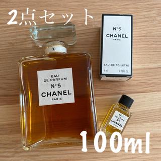 CHANEL - 未使用 新品 2点セット 100ml &4ml シャネル No5 No.5 5番