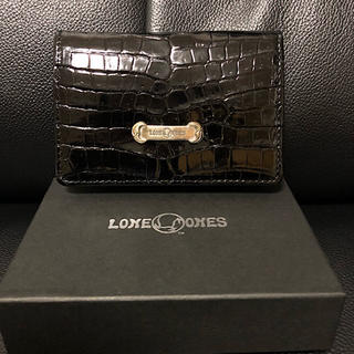 LONE ONES - 新品箱付きLONE ONESロンワンズ定価9.3万クロコレザーカードケース黒