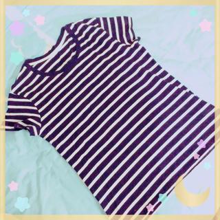 ジーユー(GU)のボーダー 新品未使用 (シャツ/ブラウス(半袖/袖なし))