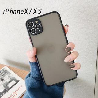大人気!iPhoneX iPhoneXS シンプル カバー ケース ブラック