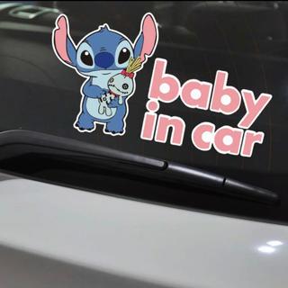 ディズニー(Disney)のベビーインカーステッカースティッチ baby in car stitch (その他)