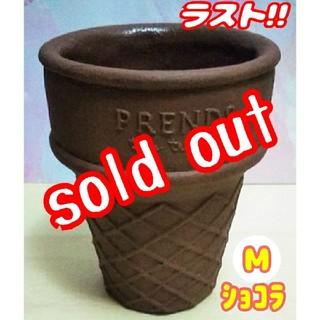 【完売!!】アイスコーン鉢♪ ショコラ:Mサイズ⑤ 多肉植物 寄せ植え (プランター)