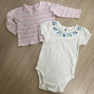 ベビーギャップ(babyGAP)のロンパース&カットソー2枚セット 女の子(ロンパース)