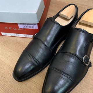 REGAL - リーガル 革靴 ダブルモンク 26.0 箱付き 雨天用 ビジネスシューズ