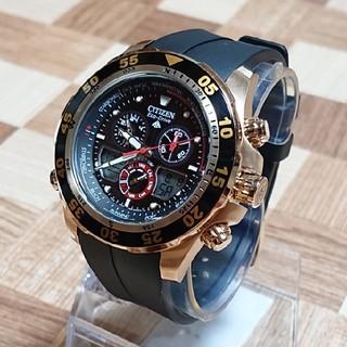 CITIZEN - 極美品【CITIZEN/PROMASTER】ECO-DRIVE メンズ腕時計