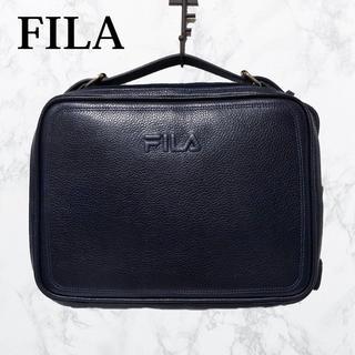 FILA - FILA セカンドバッグ 財布バッグ 紺色 レザーバック クラッチバッグ 高級感