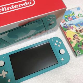 Nintendo Switch Lite ターコイズ 本体 あつ森 セット
