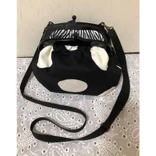 marimekko - ❤️新品未使用❤️おすすめ♡可愛い♪がま口 ショルダバッグ マリメッコ風 白×黒