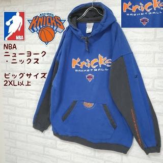 Reebok - 《ビッグサイズ》NBA ニューヨーク・ニックス スウェットパーカー リーボック