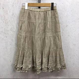 トゥービーシック(TO BE CHIC)のTO BE CHIC 刺繍スカート(ひざ丈スカート)