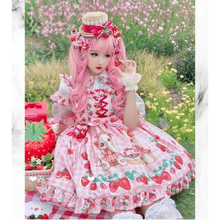 Angelic Pretty - いちごうさぎ JSKフルセット  甘ロリ しゅくれどーる ロリィタ