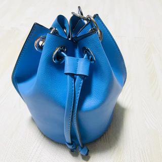 ZARA - ZARA   巾着バッグ ブルー ハンドバッグ