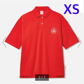 ジーユー(GU)のGU スタジオセブン ビッグポロ XS レッド 新品未使用(ポロシャツ)