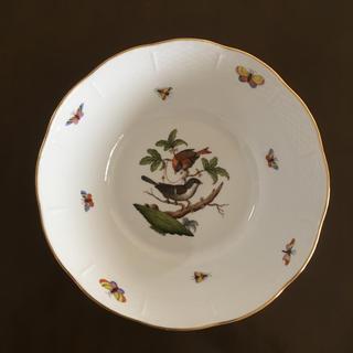 ヘレンド(Herend)のヘレンド ロスチャイルドバード ラウンドベジタブルボウル平と中セット(食器)