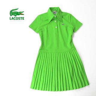 LACOSTE - フランス製 美品★70's LACOSTE プリーツスカート ポロワンピース