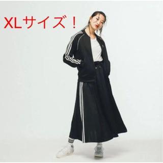 adidas - 【新品・未使用】タグ付き アディダス ロングサテンスカート ブラック XL