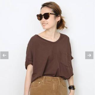 DEUXIEME CLASSE - 新品未使用 SKARGORN ポケツキワイド Tシャツ ブラウン