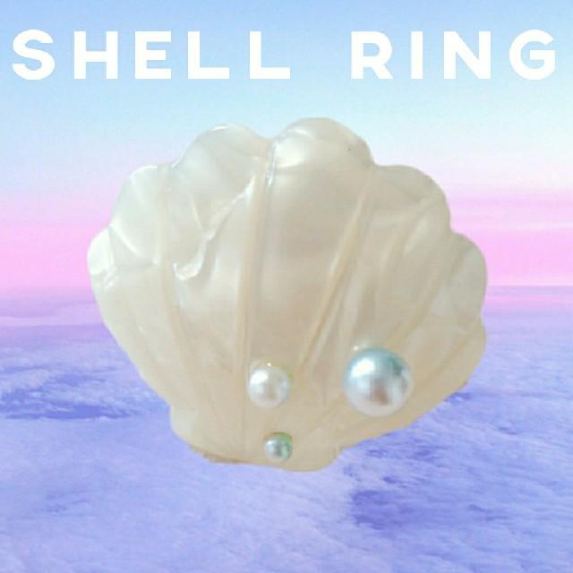 シェル型マーメイドリング◆貝柄リング◆ゆめかわ 指輪 フェアリー ロリィタ レディースのアクセサリー(リング(指輪))の商品写真