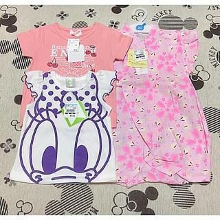 Disney - 【新品】ディズニーTシャツ&さくらんぼTシャツ&甚平ロンパース 3点セット
