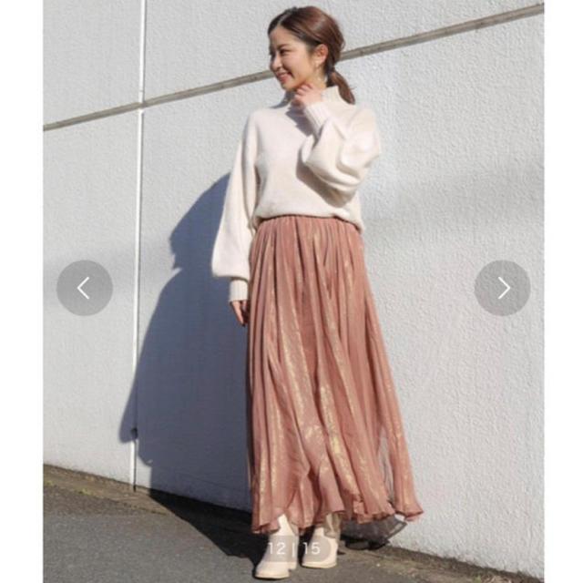 who's who Chico(フーズフーチコ)のフーズフーチコ 箔プリントフレアスカート  レディースのスカート(ロングスカート)の商品写真
