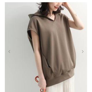 ノーブル(Noble)のノースリーブフードパーカー(Tシャツ/カットソー(半袖/袖なし))