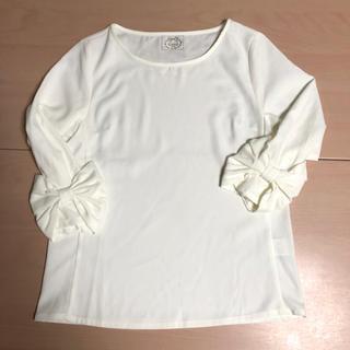 tocco - tocco closetトッコ クローゼットリボンの袖のカットソートップス