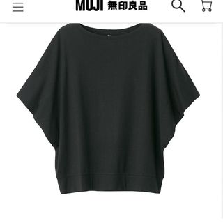 MUJI (無印良品) - 無印良品 コットンレーヨンワイドドルマンTシャツ