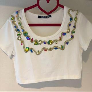 フィグアンドヴァイパー(FIG&VIPER)のfig&viper ビジューショートトップス(Tシャツ(半袖/袖なし))